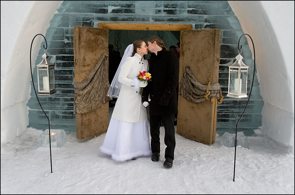 David And Cynthia S Wedding At The H Tel De Glace In