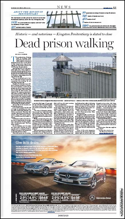 Kingston penitentiary in the newspapers across canada lars hagberg