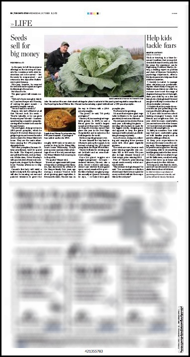 The Toronto Star Oct. 31, 2012