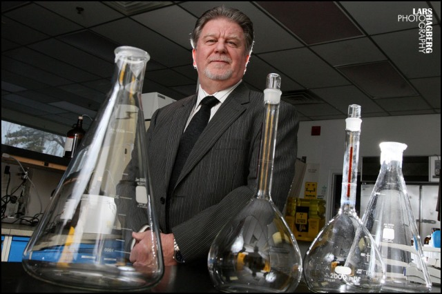 Dr. Michael Berendt, CEO for Bioniche Life Science INC., pose for a portrait in a lab at Bioniche in Belleville, Ont., on Thursday Nov. 21, 2013. Lars Hagberg for the Globe and Mail