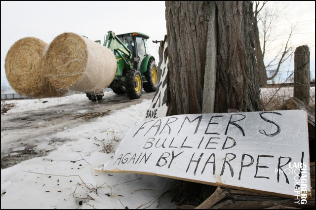 Farmer Frank Meyers remove some hay from the his farm in Quinte West, Ontario, on Monday on January 13, 2014. The farm is planned to be new training site for the JTF2 based out of CFB Trenton. Meyers signed an expropation agreement but says Government lawyers gave him no choice. Lars Hagberg for the Globe and Mail