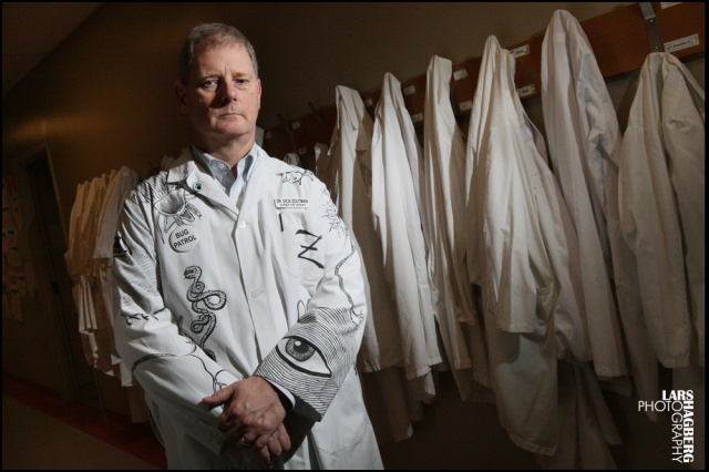 Dr. Dick Zoutman pose for a portrait at the Quinte Health Care in Belleville, Ont., on Wednesday on Jan. 22, 2014. Dr. Zoutman has invented a way to keep an entire ward clear of the super-bug MRSA for six months. Lars Hagberg for the National Post