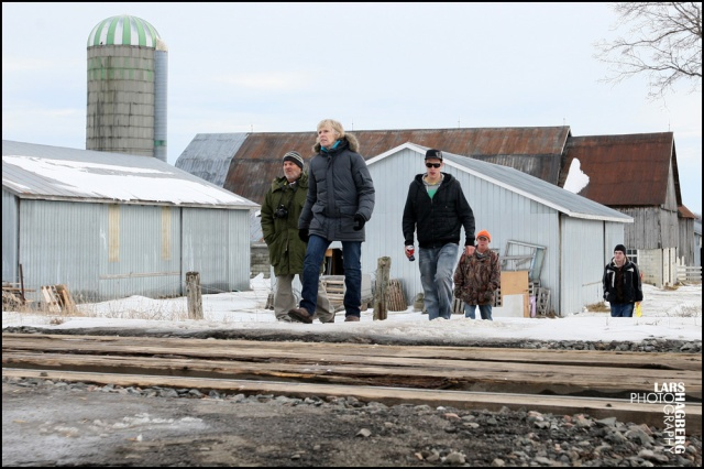 A few protesters came back from Frank Meyers farm in Quinte West, Ontario, on Monday on January 13, 2014. The site that the farms sits on will be new traing facilities for JTF2 based out of CFB Trenton. Meyers signeg an agreement but says that the government lawyers didn't give him a choice. Lars Hagberg for the Globe and Mail