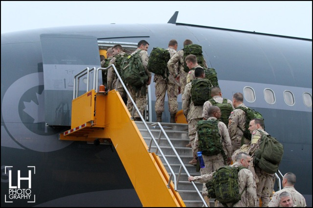 115 Canadian forces members aboard an Airbus CC-150 Polaris, from Canadian Forces Base Trenton, in Trenton, Ont., on Thursday, Oct. 16, 2014. The forces is responsible for initiating preparations for the Canadian forces units that will deploy in Operation IMPACT in Kuwait and fight against ISIL. THE CANADIAN PRESS/Lars Hagberg